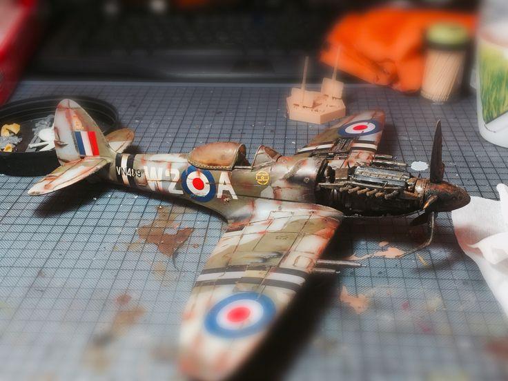 Spitfire mk. 24 static model