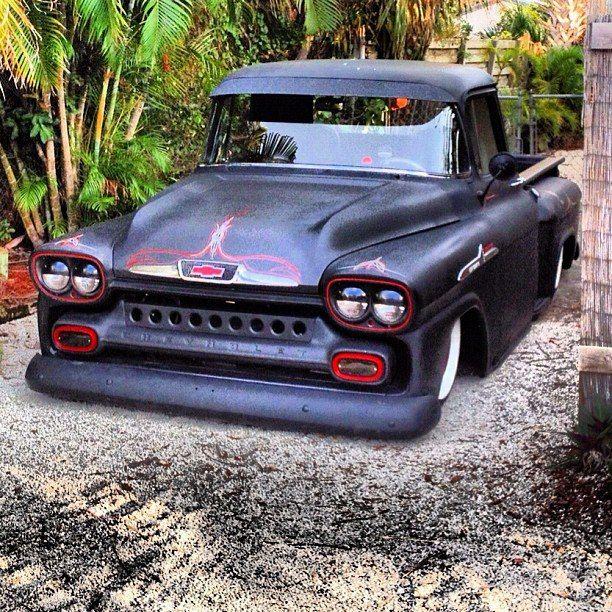 Vintage black Chevy Truck