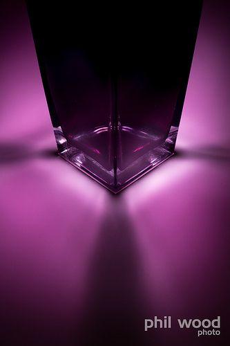 Purple Glass vase 298:365:2013 - Glowing