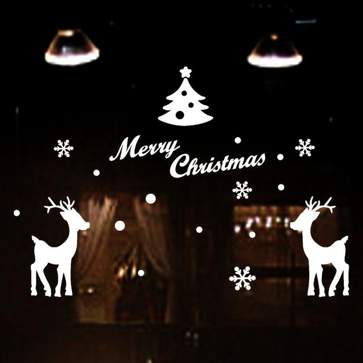 Window Stickers Christmas Decorations for home Merry Christmas Deer Snowflake Red or White  #nice #jewelrygram #beauty #musthave #buynow #ontrend #jewelry #bling #crystals #fabu