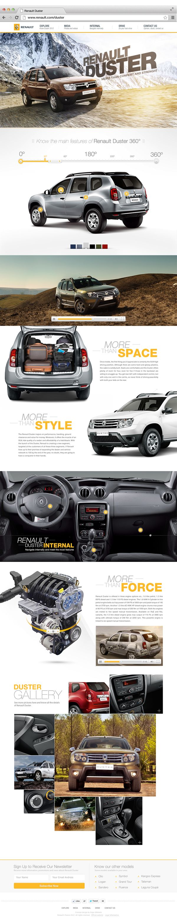 Cool Automotive Web Design on the Internet. Renault. #automotive #webdesign @ http://www.pinterest.com/alfredchong/automotive-web-design/