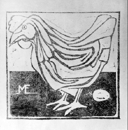 "M.C. Escher, 1917 -  artworks tagged ""hens"" - WikiArt.org"