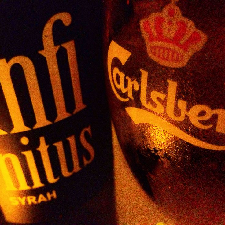 #redwine and #Carlsberg #beer