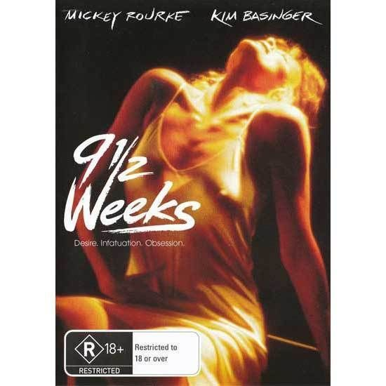 9 1/2 Weeks DVD Brand New Region 4 Aust. - Kim Basinger, Mickey Rourke