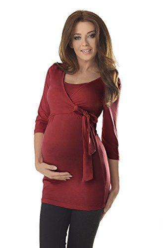 Purpless Maternity 2in1 Maternidad y de Enfermería Parte Superior de la Manga 3/4 7035 (36, Burgundy) #camiseta #realidadaumentada #ideas #regalo