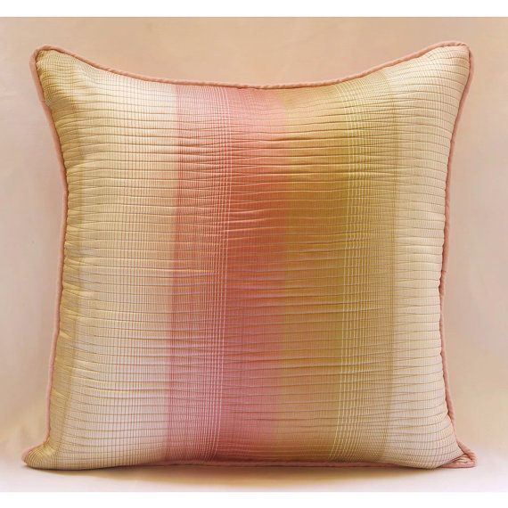 "Textured Ombre Pink Jacquard Weave Throw Pillow Covers 18""X18"" - Fairytale"
