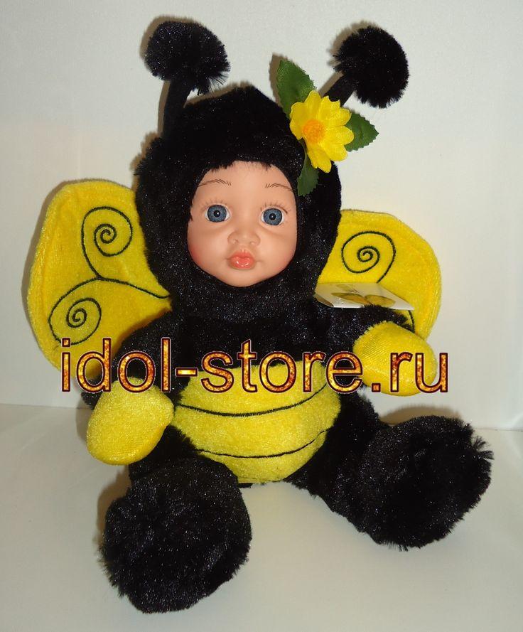 Кукла мягконабивная, пупс в костюме пчёлки от Sonata Style