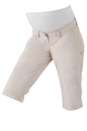 Christoff Bermuda Capri Jeans Damen Umstandsmode Hose Skinny / Slim Fit (36, sand (beige))