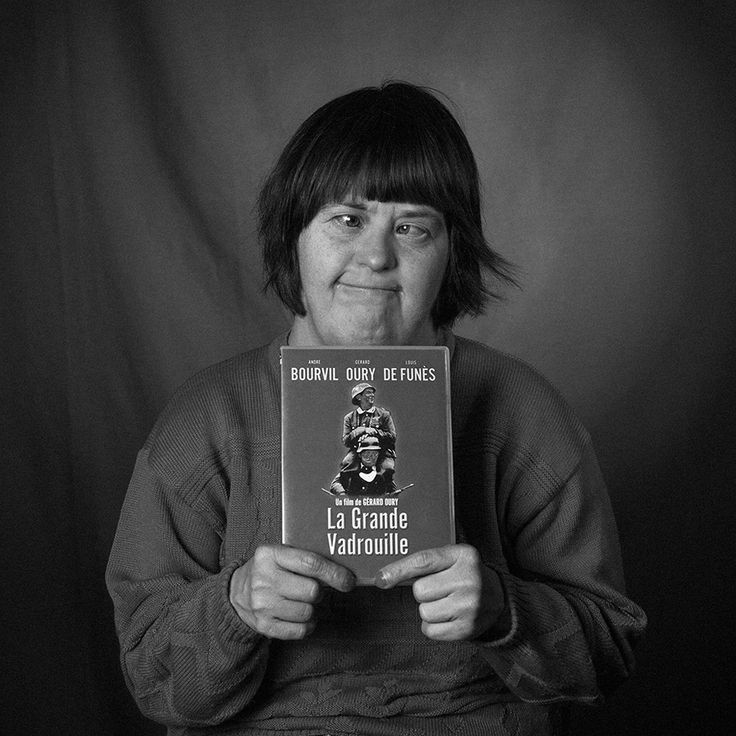 A member of L'Arche Brussels, in Belgium, holding their favourite object.  [Photo Robert Laskowiecki] #community #disability