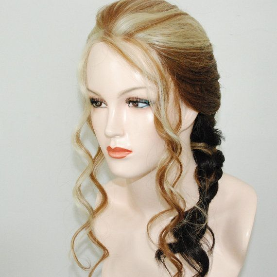 lace front french braided wig with ombre mix/ by Stars4Ucollection, $79.90