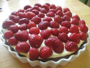 glutenfri-laktosefri jordbærtærte