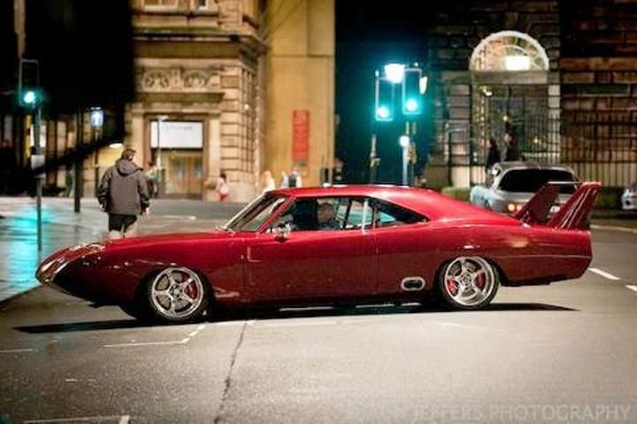 The beautiful red Plymouth Superbird used in Fast and Furious 6. Damn Vin Diesel has good taste in cars