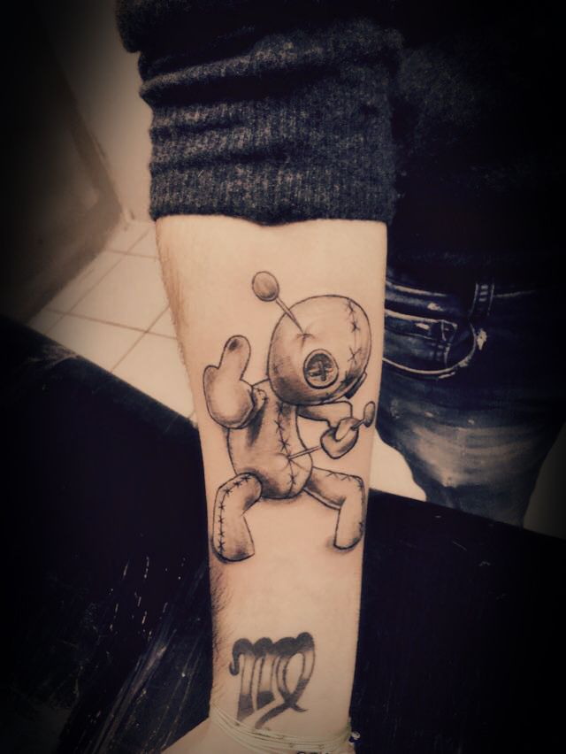 voodoo doll tattoo | Smiley tattoo athens | Pinterest ...