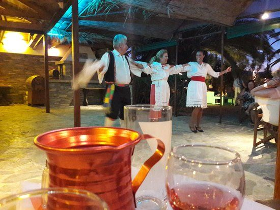 Image result for greek dancing and wine