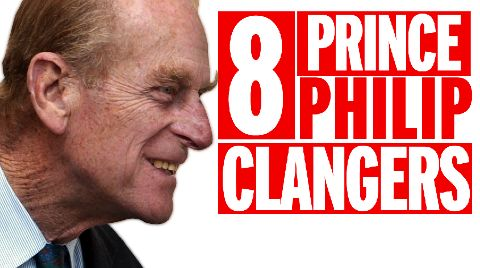 90 of Prince Philip's cringiest clangers