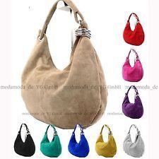 ital. Handtasche Schultertasche Shopper Damentasche Echt Wildleder Tasche T02