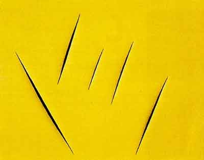 Fontana: The butcher artist who used scalpels instead of brushes...