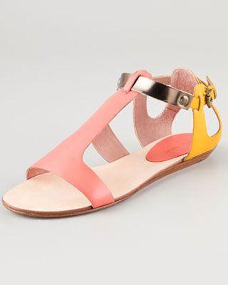 Rebecca Minkoff, Colorblock Flat Sandals