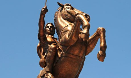 Macedonia statue: Alexander the Great or a warrior on a horse?