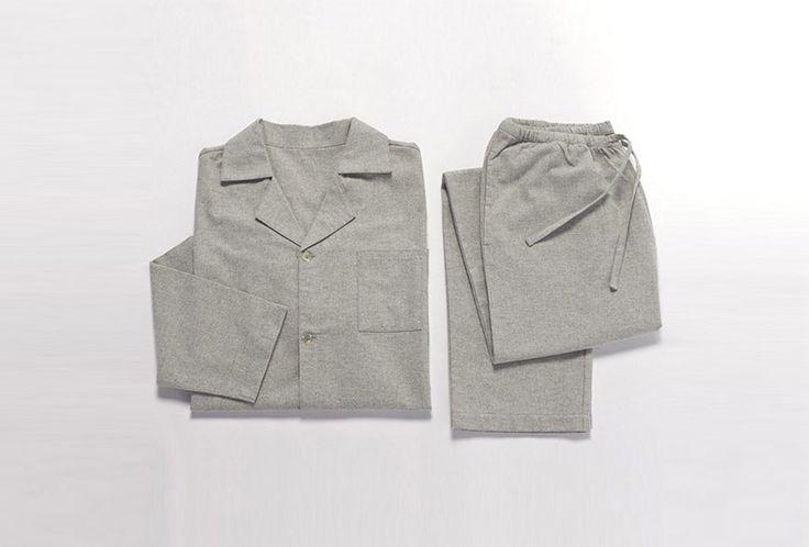 Coyuchi Men's Heather Flannel Pajama Set