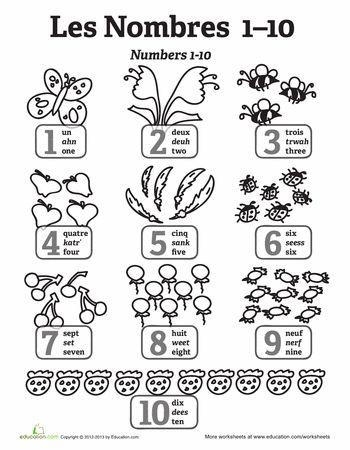 Number Names Worksheets : beginner french worksheets ~ Free ...