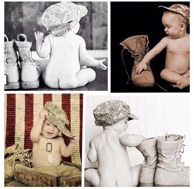"""Military baby so stinking cute""---I agree!  saving to faves :)"