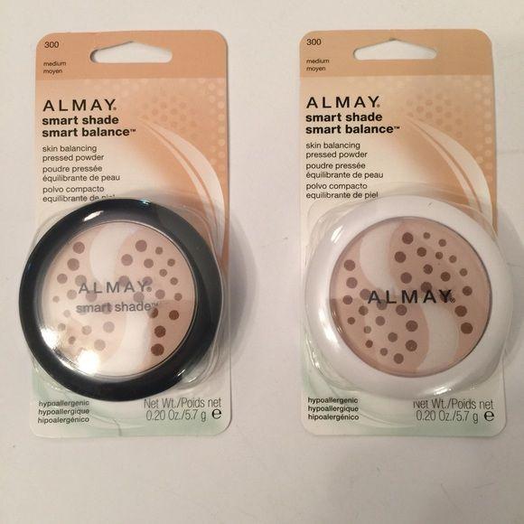 "NWT bundle of 2 Almay pressed powder NWT bundle of 2 Almay ""smart shade smart balance"" skin balancing pressed powder.  Both are shade medium. Almay Makeup Face Powder"