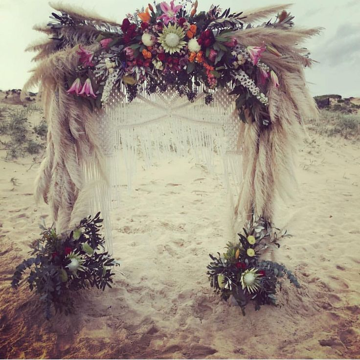 "45 Likes, 3 Comments - Weddings with a Difference (@different.weddings.au) on Instagram: ""Macrame & Pampas Grass Arbour Magic from @aisleofeden #weddingthemes #beachtheme #wedding…"""