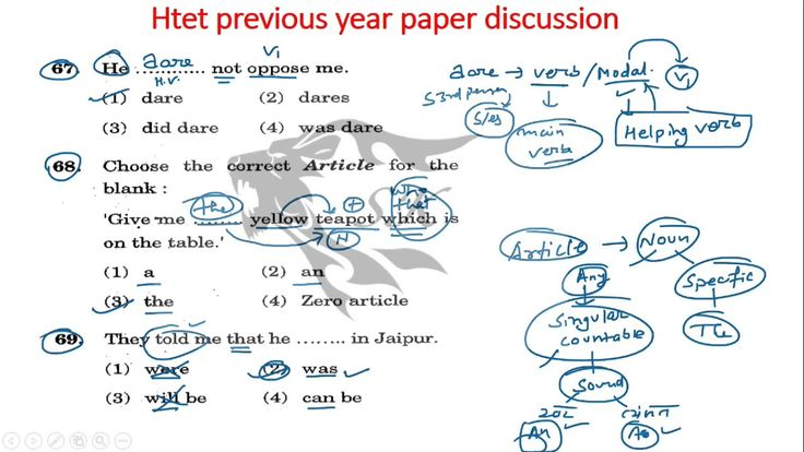 HTET previous year question paper discussion with concepts