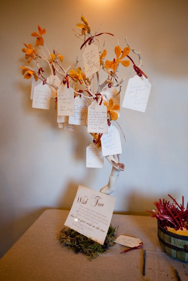 Wish tree for the autumn themed weddings. Debbie Wong Photography, Calgary wedding photography, www.debbiewongphotography.com