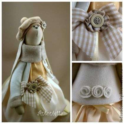 Toy animals, handmade. Fair Masters - handmade bunny Antonietta. Handmade.