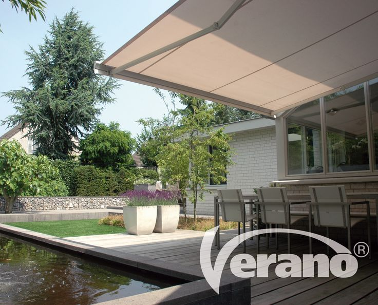 Met een #zonnescherm van Verano® creëert u een gezellig terras en geniet u van optimaal comfort #Verano #sunawning