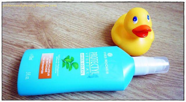 GoldenWendy - Le Blog: Votre été avec GoldenWendy (#3) - Des produits de beauté qui sentent bon l'été:lait amplificateur de bronzage après soleil