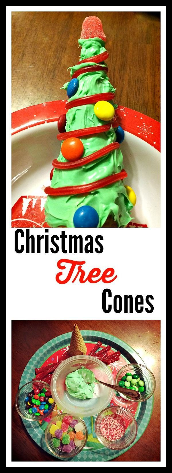 Here's a fun, easy idea to do with your kids for a Christmas activity - make Christmas Tree Cones! Frugal & simple but a fun family activity you can pull together last-minute.