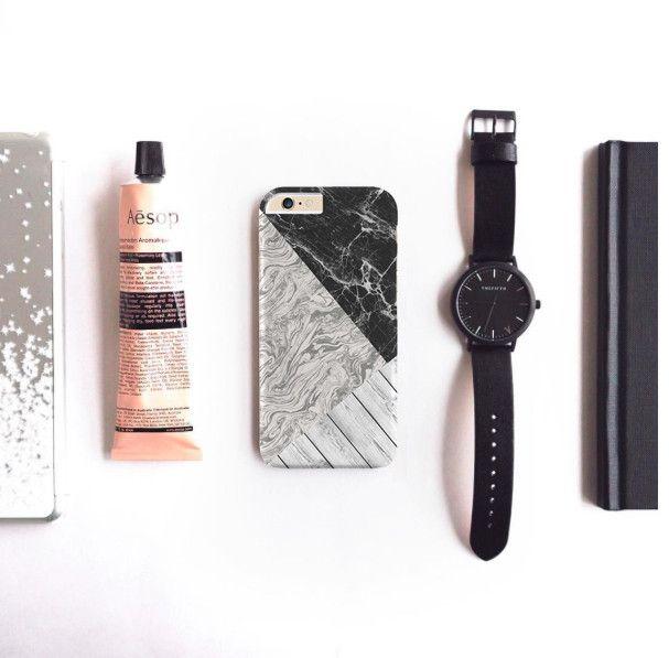 Marble and Wood case for iPhone Galaxy Htc One - Solomiia-Ivanytsia - Etui na…