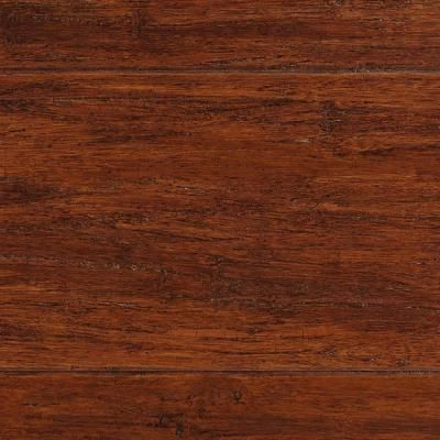 Home Decorators Collection Strand Woven Bamboo Handscraped Brown 3/8 in. x 5-1/8 in. x 36 in. Length Engineered Bamboo Flooring (25.60 sq.ft./case)-YY1001 - The Home Depot