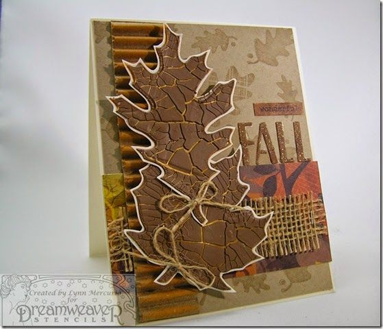 Beautiful card, need to try some crackle paste! =)