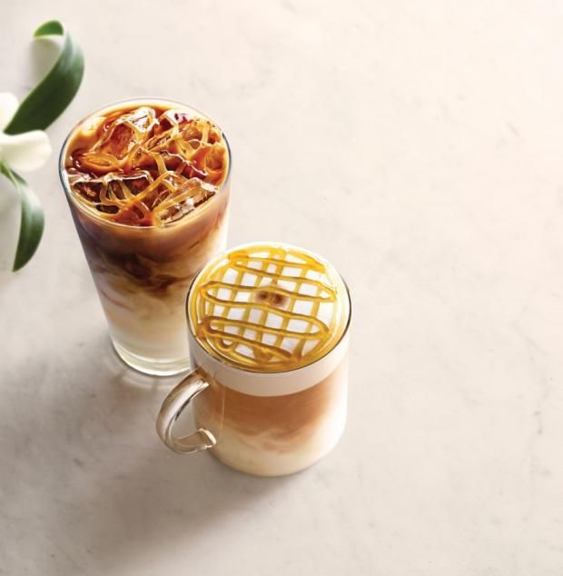 Iced Honey-Vanilla Macchiato   Steamed milk is infused with honey and vanilla, then topped with milk foam, a shot of espresso and — to really capture the sugary essence of the drink — a drizzle of honey-vanilla sauce.