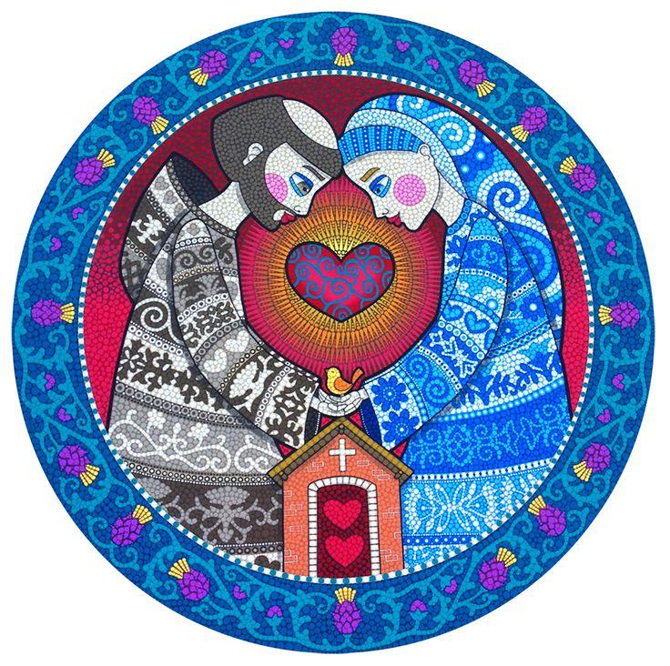 Clique para ampliar Técnica: Mosaico de Tinta Tamanho: 100x100cm Tinta plástica sobre madeira com acabamento em verniz marítimo ...