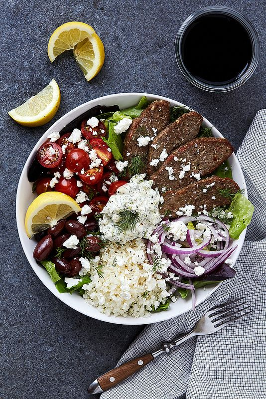 Greek Lamb Gyro Bowls with Tzatziki - Tasty Yummies