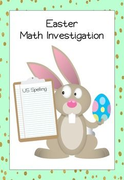 HELP! The Easter Bunny wants to deliver Easter Eggs to your students and needs help getting organized.  This pack contains resources needed to undertake an Easter Maths Investigation with grade 4, 5 and 6 students.  This resource is beneficial for students because: •It is fun and engaging as it relates to the real world. •It requires higher order thinking. •It combines a range of math's skills.