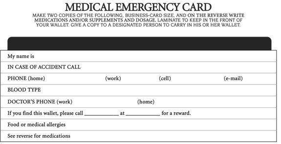 Emergency Medical Card Template Beautiful The Ultimate Organizer Medical Emergency Card Free Business Card Templates Emergency Medical