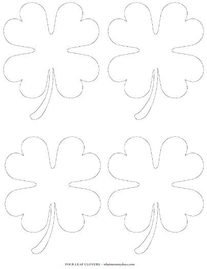 Free Printable Four Leaf Clover Templates – Large & Small Patterns to Cut Out