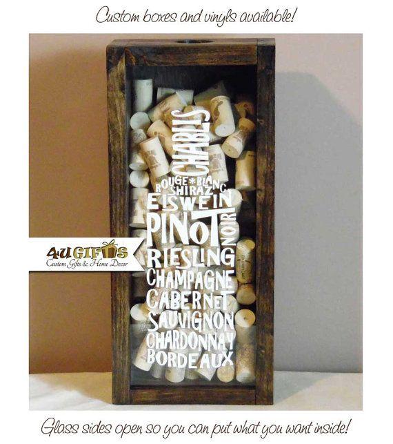 Wine Typography Wine Cork Holder Wine Lovers Gift by 4UGIFTSONLINE