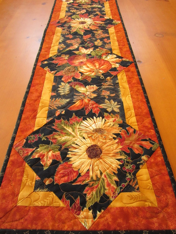 Fall Harvest Table Runner I Like The Idea And Looks