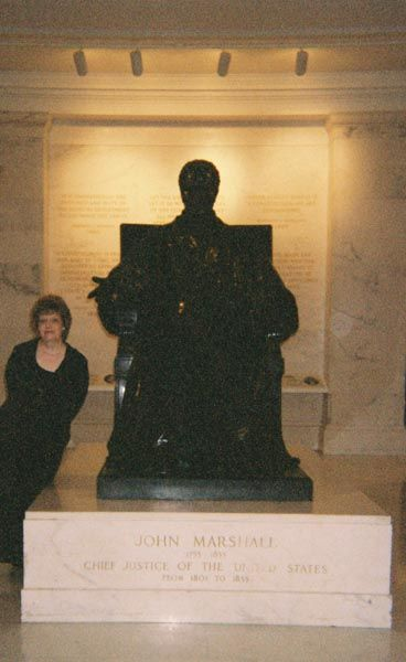 With Chief Justice John Marshall.