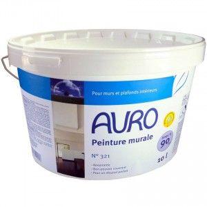 Peinture murale et pour plafond écologique classique (blanche mate) - Marque Auro - N° 321 (seaux de 1 à 10 kg)
