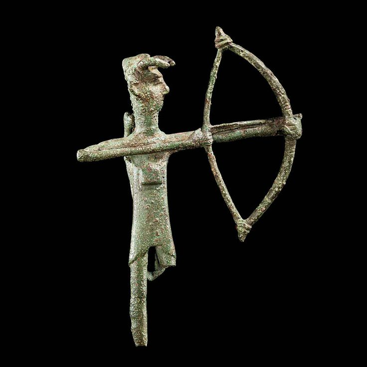 Sardinian Bronze Figure of an Archer  Culture  : European, Sardinian  Period  : 8th century B.C.  Material  : Bronze  Dimensions  : Height: 14.0 cm