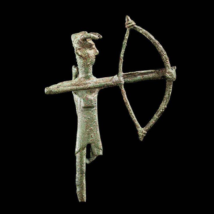 Sardinian Bronze Figure of an Archer  Culture  : European, Sardinian  Period  : 8th century B.C.  Material  : Bronze  Dimensions  : Height: 14.0 cm