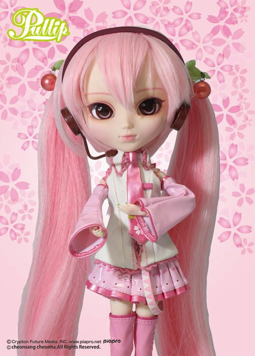 the perfectly pink Sakura Miku!